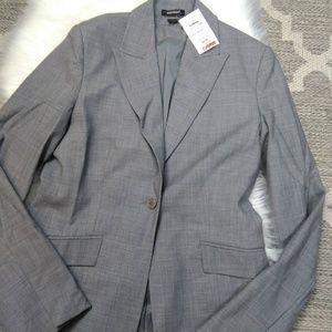 Express Womens Gray Suit Blazer size 10